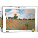 The Poppy Field by Claude Monet 1000 Piece Puzzle Jigsaw Puzzle