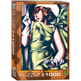 Young Girl in Green by Tamara de Lempicka 1000 Piece Puzzle Jigsaw Puzzle