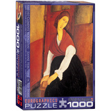 Jeanne Hebuterne in Red Shawl by Amedeo Clemente Modigliani 1000 Piece Puzzle Jigsaw Puzzle