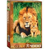 Lion & Ba 1000 Piece Puzzle Jigsaw Puzzle