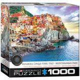 Manarola Cinque Terre Italy Mediterranean Oasis 1000 Piece Puzzle Jigsaw Puzzle