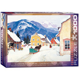 Laurentian Village by Clarence Gagnon 1000 Piece Puzzle Jigsaw Puzzle
