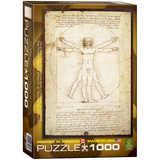 The Vitruvian Man by Leonardo da Vinci 1000 Piece Puzzle Jigsaw Puzzle