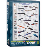 Submarines & U-Boats 1000 Piece Puzzle Jigsaw Puzzle