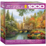 Autumn Church by Dominic Davison 1000 Piece Puzzle Jigsaw Puzzle