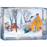 Winter Morning in Baie-St-Paul by Clarence Gagnon 1000 Piece Puzzle Jigsaw Puzzle