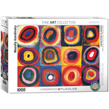 Colour Study of Squares by Wassily Kandinsky 1000 Piece Puzzle Jigsaw Puzzle