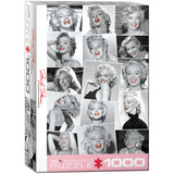 Marilyn Monroe Red Lips by Bernard of Hollywood 1000 Piece Puzzle Jigsaw Puzzle