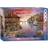 Mediterranean Harbor by Dominic Davison 1000 Piece Puzzle Jigsaw Puzzle
