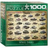 WWII Tanks 1000 Piece Puzzle Jigsaw Puzzle
