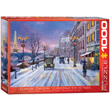 Christmas Eve in Paris by Dominic Davison 1000 Piece Puzzle Jigsaw Puzzle