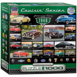 American Cars of the 1940s 1000 Piece Puzzle Jigsaw Puzzle
