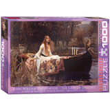 The Lady of Shalott by John William Waterhouse 1000 Piece Puzzle Jigsaw Puzzle