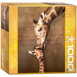 Giraffe Mother's Kiss 1000 Piece Puzzle Jigsaw Puzzle