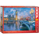 Christmas Eve In London by Dominic Davison 1000 Piece Puzzle Jigsaw Puzzle