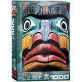 Totem Pole Comox Valley BC by Kirs Krug 1000 Piece Puzzle Jigsaw Puzzle