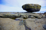 Balance Rock on the East Coast of Graham Island. it Is a Glacial Erratic from the Last Ice Age Photographic Print by Richard Wright