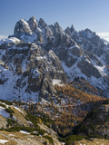 The Peaks of the Cadini Mountain Range, Cadini Di Misurina in the Dolomites, Tre Cime Di Lavaredo Photographic Print by Martin Zwick