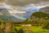 Montana, Glacier National Park, Logan Pass. Sunrise on Mountain Landscape Photographic Print by Jaynes Gallery