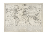 Bowles's Geographical Game of the World, London, 1790 Giclee Print by Carington Bowles