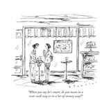 """When you say he's smart, do you mean in a tests-well way or in a lot-of-m..."" - New Yorker Cartoon Premium Giclee Print by Barbara Smaller"