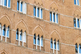 Europe, Italy, Siena. Detail of Arches Building Facades Il Campo Photographic Print by Trish Drury
