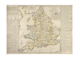 The Royal Geographical Pastime, Exhibiting a Complete Tour Thro' England and Wales, London, 1770 Giclee Print by Thomas Jefferys