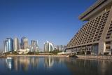 Qatar, Doha, West Bay City Skyline Photographic Print by Walter Bibikow