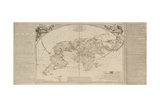 The Royal Geographical Pastime: Exhibiting a Complete Tour Round the World, London, 1770 Giclee Print by Thomas Jefferys