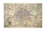 Davies' New Map of London and its Environs, 1882 Giclee Print by Edward Stanford