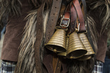 Italy, Sardinia, Mamoiada. Close-Up of the Metal Bells on a Traditional Pagan Mamuthone Costume Photographic Print by Alida Latham