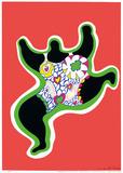Leaping Nana, part of the series Nana Power, 1970 Kunstdrucke von Niki De Saint Phalle