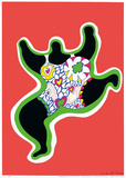 Leaping Nana, part of the series Nana Power, 1970 Print by Niki De Saint Phalle