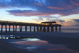 Georgia, Tybee Island, Early Morning at the Pier Photographic Print by Joanne Wells