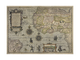 Map of Africa and Brazil, Amsterdam, ca. 1595 Giclee Print by Petrus Plancius
