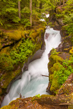 Montana, Glacier National Park. Waterfall Landscape Photographic Print by Jaynes Gallery
