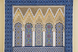 Morocco, Fes. a Detail of an Ornate Wall of the King's Palace Photographic Print by Brenda Tharp