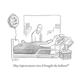 """Any improvement since I brought the balloon?"" - New Yorker Cartoon Premium Giclee Print by Robert Leighton"