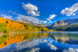 Colorado, Telluride, Trout Lake. Fall Sunset on Lake Photographic Print by Jaynes Gallery
