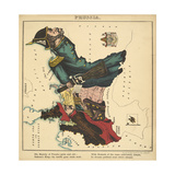 Prussia, Geographical Fun: Being Humourous Outlines of Various Countries, 1869 Giclee Print by Lilian Lancaster