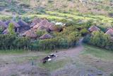 Africa, Ethiopian Highlands, Eastern Amhara, Near Lalibela. Village Near Lalibela Fotografisk tryk af Ellen Goff