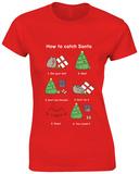 Women's: Pusheen- How To Catch Santa T-Shirts