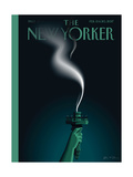 Liberty's Flameout - The New Yorker Cover, February 13, 2017 Regular Giclee Print by John W. Tomac