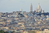 Sacre Coeur and Montmartre Seen from Arc De Triomphe. Paris. France Photographic Print by Tom Norring