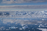 Greenland, Disko Bay, Ilulissat, Elevated View of Floating Ice Photographic Print by Walter Bibikow