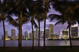 Twilight over Miami Skyline, Miami, Florida, Usa Photographic Print by Brian Jannsen