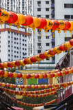 Singapore, Chinatown, Lantern Decorations Photographic Print by Walter Bibikow