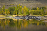 Autumn Reflections at Butchers Dam, Near Alexandra, Central Otago, South Island, New Zealand Photographic Print by David Wall