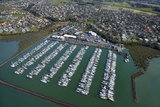Hobsonville Marina, Waitemata Harbour, Auckland, North Island, New Zealand Photographic Print by David Wall
