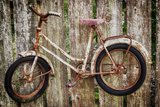 Orcas Island, Old Bicycle Hanging on Fence Photographic Print by Mark Williford